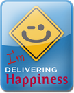 I'm delivering happiness.
